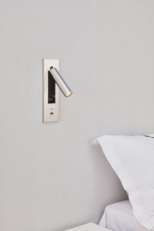 Dida Round Recessed Wall Lamp + Switch + USB