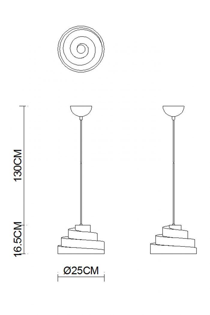 Helix Plaster  Pendant