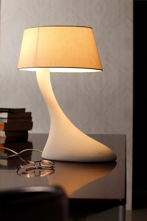 Swan Table Lamp with Shade