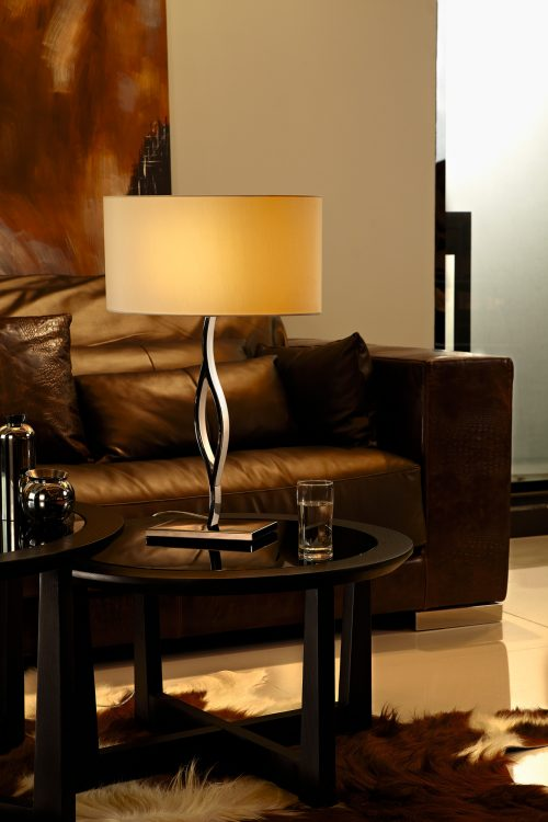 Fusion Table Lamp with Oval Shade