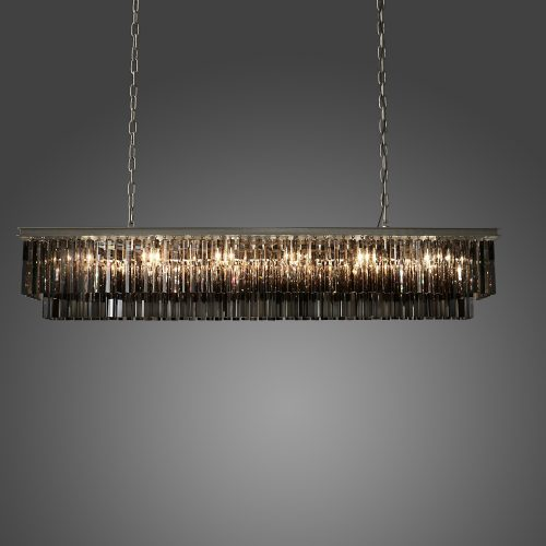 Odeon 12 Light Rectangle Crystal Chandelier