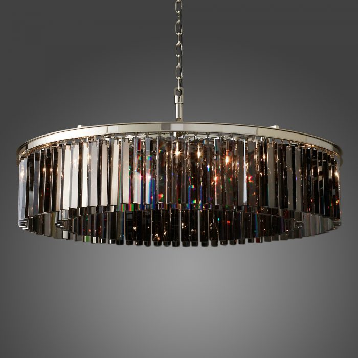 Odeon 12 Light Round Crystal Chandelier