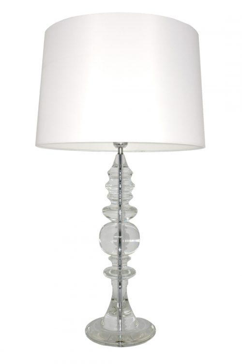 Opulence Buffet Lamp with White Shade