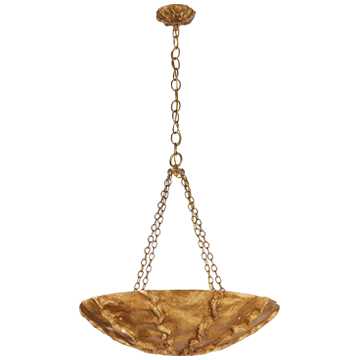 Benit Medium Sculpted Pendant in Gild and Gilded Plaster