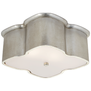 Bolsena Clover Flush Mount in Burnished Silver Leaf
