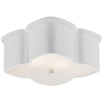 Bolsena Clover Flush Mount in White