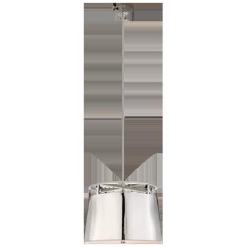 Bryden Medium Round Pendant in Polished Nickel