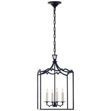 Darlana Small Fancy Lantern in Aged Iron