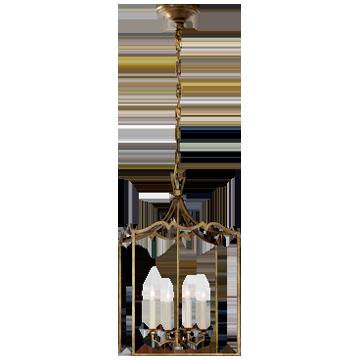 Darlana Small Fancy Lantern in Gilded Iron