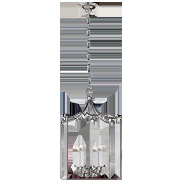 Darlana Small Fancy Lantern in Polished Nickel