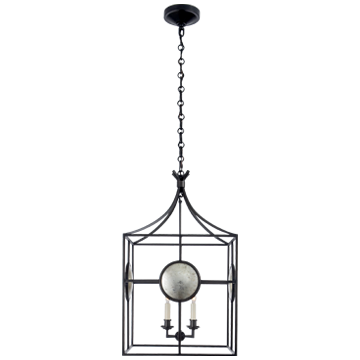 Gramercy Medium Lantern in Aged Iron