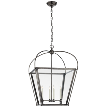 Plantation Medium Lantern in Bronze with Clear Glass