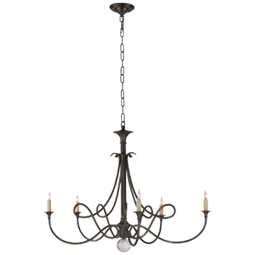 Double Twist Large Chandelier in Bronze