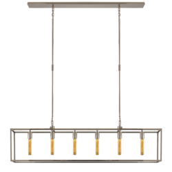 Belden Linear Pendant in Polished Nickel with Clear Glass
