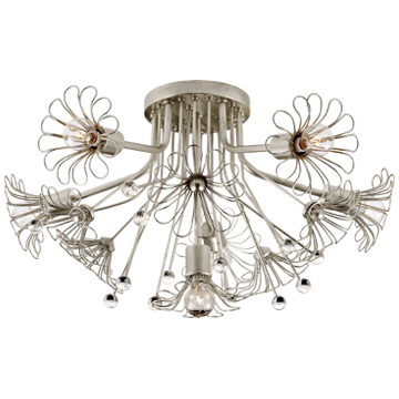 Keaton Bouquet Flush Mount in Burnished Silver Leaf
