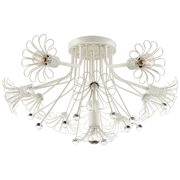 Keaton Bouquet Flush Mount in Light Cream