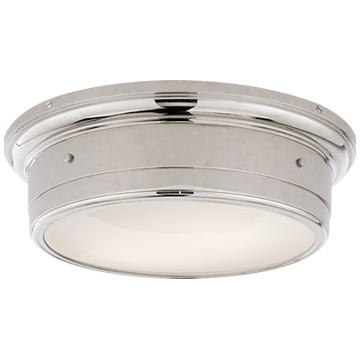 Siena Large Flush Mount in Chrome with White Glass