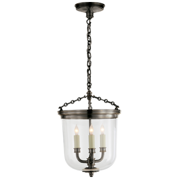 Merchant Lantern in Bronze with Clear Glass