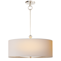 Reed Pendant in Polished Nickel with Natural Paper Shade