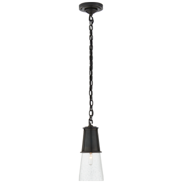 Robinson Small Pendant in Bronze with Seeded Glass