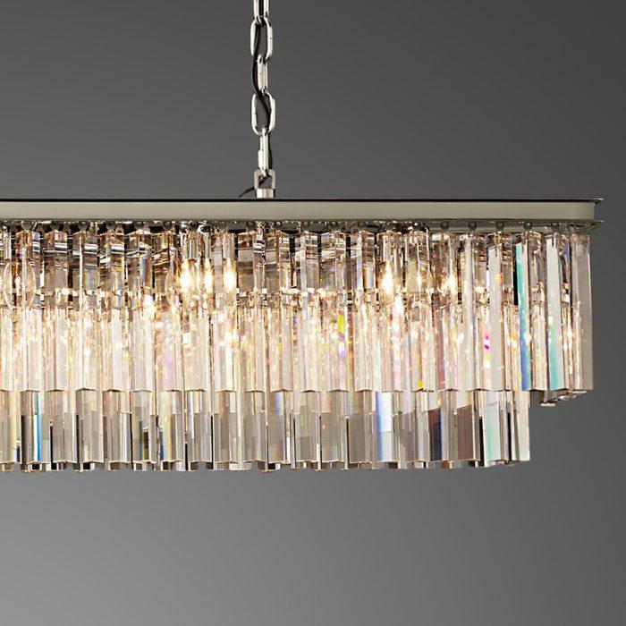 Crystal Chandelier 12 Light Rectangle