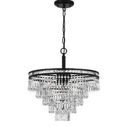 Crystal Chandelier 6 Light Round