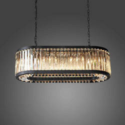Crystal Chandelier 8 Light Oval
