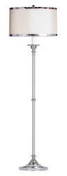 Cavendish Silver Floor Lamp with Shade