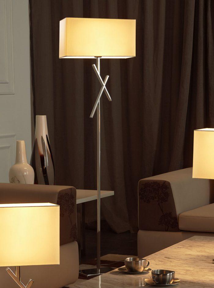 Cross Floor Lamp with Shade