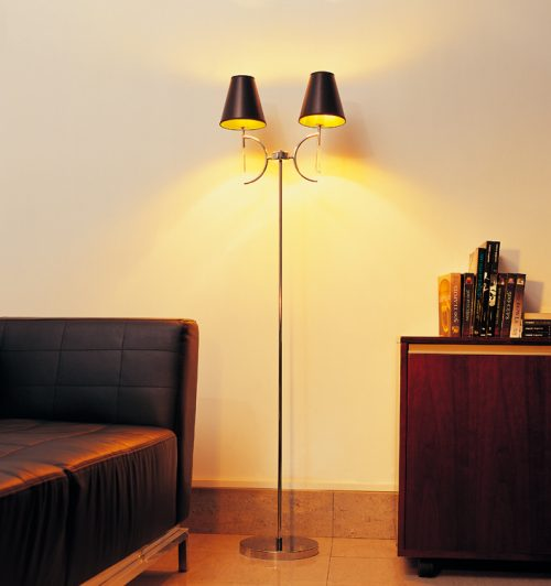 Droplet Floor Lamp with Shade