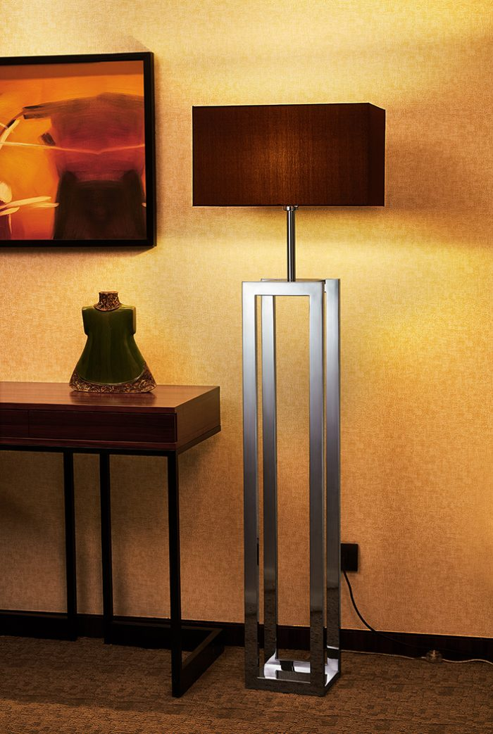 Duo  Floor Lamp with Shade