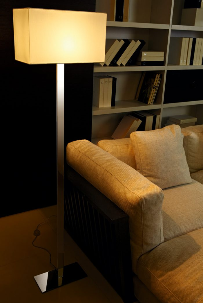 Flat Floor Lamp with Shade