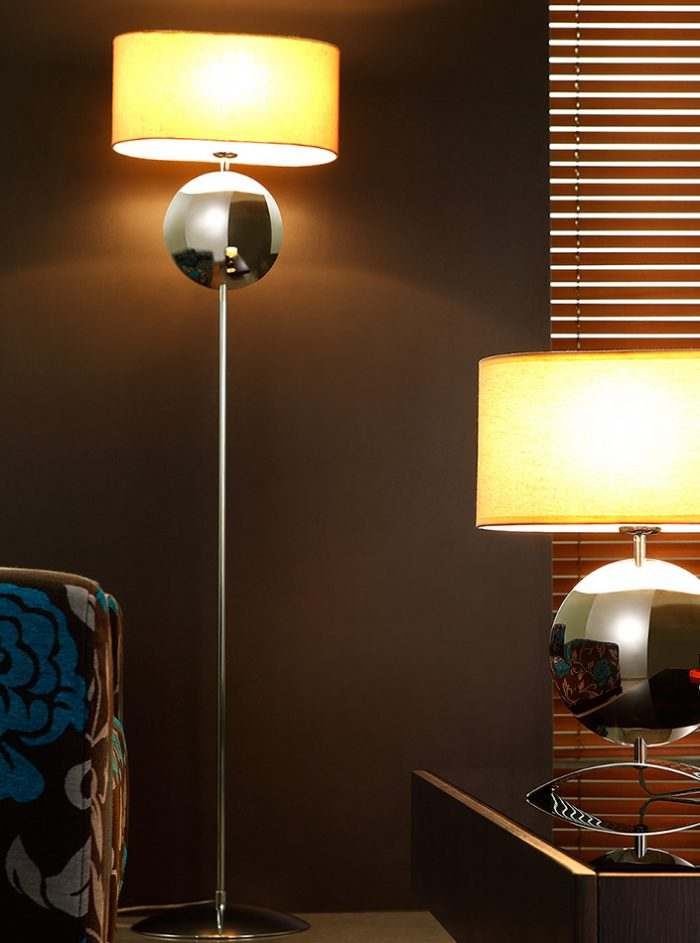 Iris Floor Lamp with Shade
