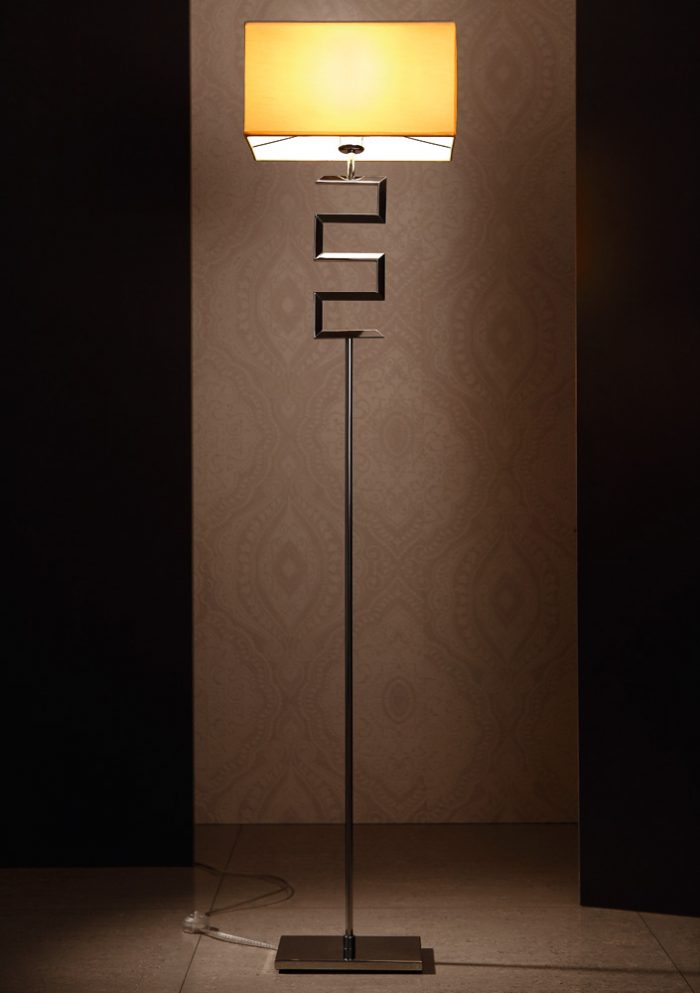 Maze Floor Lamp with Shade