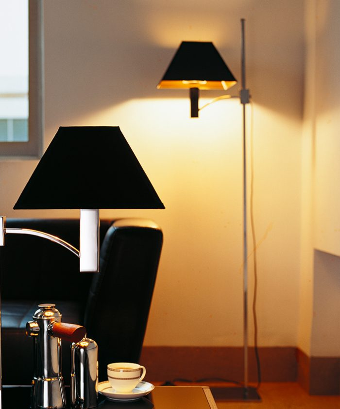 Pyramid Floor Lamp with Shade