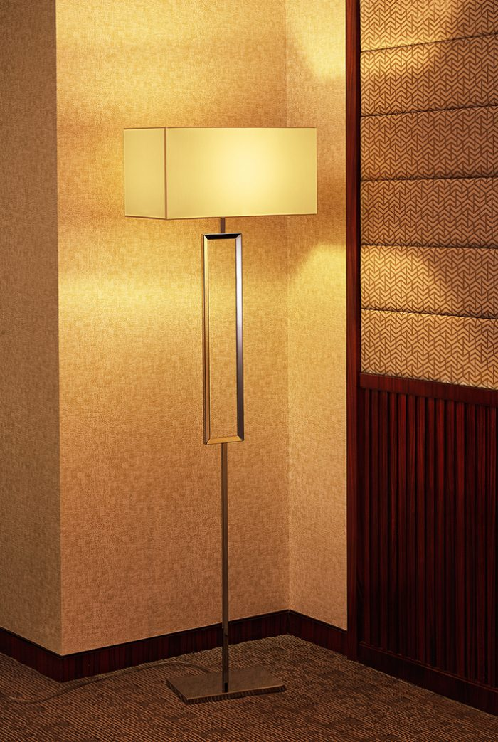 Quadrate Large Floor Lamp with Shade