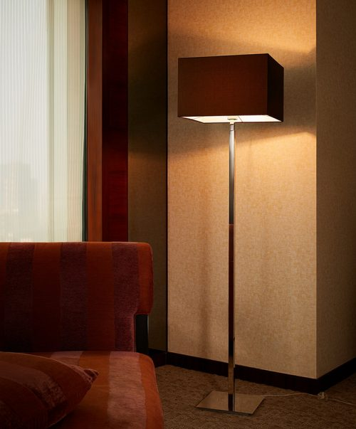 Spruce Floor Lamp with Shade