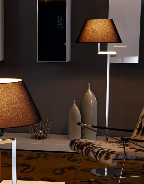Swing Floor Lamp with Shade