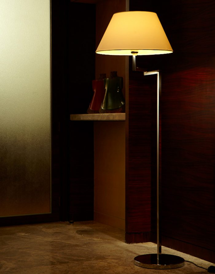 Swing Square Floor Lamp with Shade
