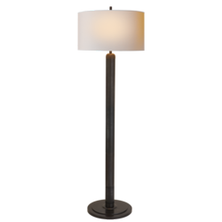 Longacre Floor Lamp in Bronze with Natural Paper Shade