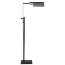 Pask Pharmacy Floor Lamp in Polished Nickel