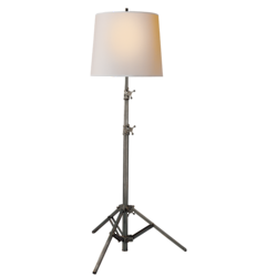 Studio Floor Lamp in Bronze with Small Natural Paper Shade