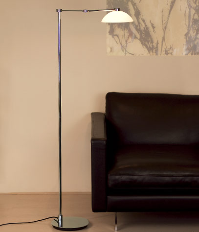 Chevalier Floor Lamp with Glass Shade
