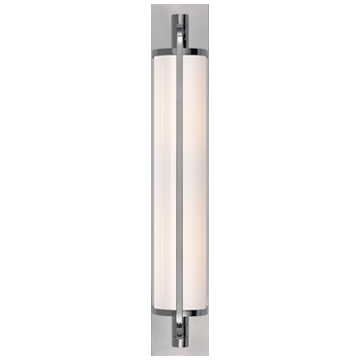 Keeley Tall Pivoting Sconce in Chrome with White Glass