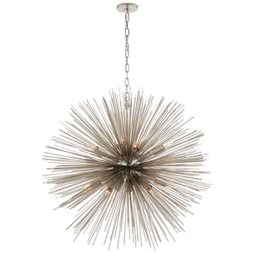 Strada Large Round Pendant in Polished Nickel