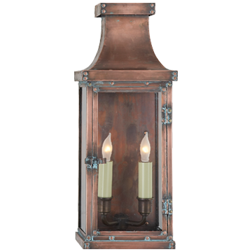 Bedford Medium 3/4 Lantern in Natural Copper