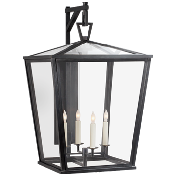 Darlana Large Bracket Lantern in Bronze