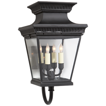 Elsinore Bracket Lantern in Black