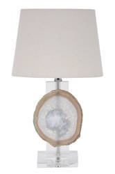 Agate Bedside Lamp with Shade
