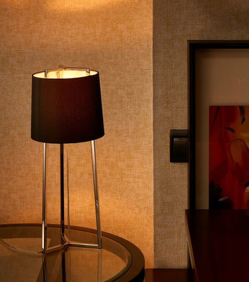 Cape Round Table Lamp with Shade